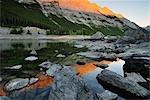 Medicine Lake, Parc National Jasper, Alberta, Canada
