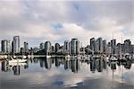 Downtown Vancouver et False Creek, Colombie-Britannique, Canada