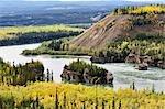 Five rapides Finger, du fleuve Yukon, territoire du Yukon, Canada
