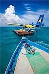 Seaplane at Banyan Tree Madivaru, Alif Alif Atoll, Maldives