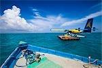 Seaplane at Banyan Tree Madivaru, Maldives
