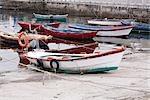 Fishing Boats, Combarro, Pontevedra Province, Galicia, Spain