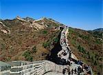Tourists at the Great Wall, Badaling, Beijing, China