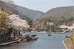 Katsura river at  Arashiyama, Kyoto, Japan