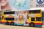Bus body advertisement, Causeway Bay, Hong Kong