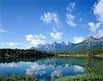 The Rockies and Herbert Lake, Banff National Park, Canada