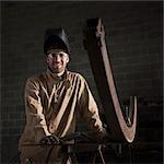 USA, Utah, Orem, portrait of male welder in workshop
