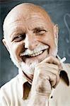 Male school teacher laughing