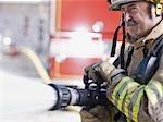 Portrait d'un sourire de pompier
