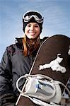 Surfeur des neiges femelles