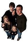 Family posing for portrait
