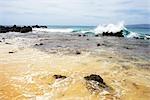Waves Crashing on Beach, Maui, Hawaii, USA