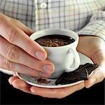 Spanische Dicke heiße Schokolade