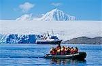 Cruise ship and tourists near Palmer Station (U.S.A.).