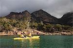Sea kayaking in Coles Bay on the Freycinet Peninsula