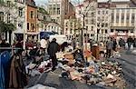 Flea-market in Place du Jeu de Balle.
