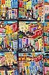 Salvador de Bahia, Brésil. La ville de Salvador, dans la vieille ville historique, un patrimoine de l'UNESCO liste emplacement. Art local reflète la forte influence africaine avec des couleurs vives et des scènes culturelles traditionnelles.