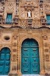 Salvador de Bahia, Brésil. Au sein de la vieille ville historique, un site du patrimoine mondial de l'UNESCO, détail de la façade élaborée de l'église de Sao Francisco et le couvent de Salvador.