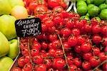 Fruit and Vegetables at Market, Barcelona, Catalunya, Spain