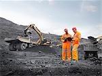 Bergleute mit Zwischenablage