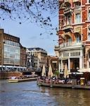 Vue sur Canal, Amsterdam, Pays-Bas