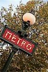 Metro Sign, Paris, Ile-de-France, France