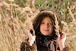fille dans le champ