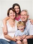 Un portrait d'une famille