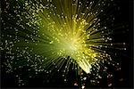 Fibre optics. Bundle of optical fibres.