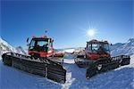 Snowplows, Zugspitze, Bavaria, Germany