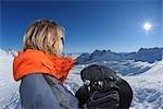 Snowboarder, Zugspitze, bavaria, Germany