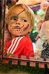 Little Boy With Face Paint, Salzburg, Salzburger Land, Austria