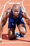 Track Athlete on starting block