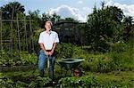 Senior man gardening, portrait