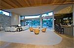 Spacious living interior of Palm Springs home