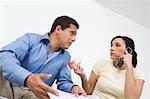Couple d'appels sur carte de crédit