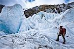 Heli-hiking, Franz Josef Glacier, South Island, New Zealand