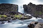 Oxararfoss chute d'eau au Parc National de Thingvellir, Islande