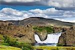 Hjalparfoss Waterfall, Iceland