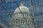 Découvre à travers la verrière de l'United States Capitol Building, Washington DC, USA