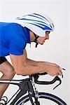 Détail d'un cycliste sur un vélo