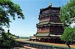 Buddisht-Weihrauch-Turm auf dem Hügel der Langlebigkeit und Kunming See, Sommerpalast, Yihe Yuan, Peking, China