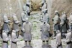Mausoleum des ersten Qin-Kaisers in das Museum der Terrakotta-Krieger Grube 3 untergebracht. Eröffnet im Jahre 1979 in der Nähe von Xian Stadt, Shaanxi Provinz, China