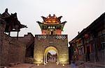 An historic city watch tower,Pingyao City,Shanxi Province,China