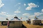 Xilamuren de Chine, Province de Mongolie intérieure des Prairies. Tentes de nomades yourte.