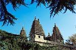 Temple de Chine, Beijing, Zhen Jue. Cinq tours de temple.