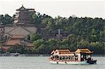 China, Peking, Sommerpalast - Unesco Weltkulturerbe. Fähre am Kunming See.