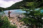Fishing on the Rio Baker,Cochrane,Aisen,Region XI,Southern Chile