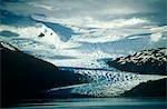 Chili, région XII, Tierra del Fuego. Montagnes de la Cordillère Darwin.