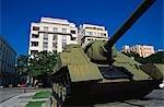 Russian tank memorial to the Bay of Pigs debacle in Havana Viejo,Old Havana World Heritage Area,Cuba